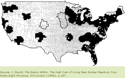 Us nuclear plant fallout map
